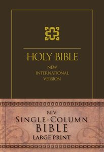 NIV Single-Column Large Print Bible Cascade Brown