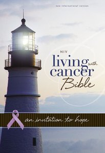 NIV Living With Cancer Bible Italian Duo-Tone Navy/Chocolate (Red Letter Edition)