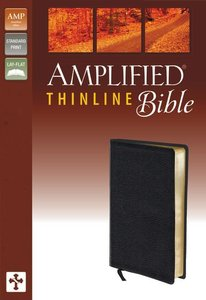 Amplified Thinline Bible Black