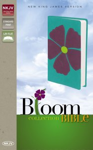 NKJV Bloom Collection Bible Purple Flower (Red Letter Edition)