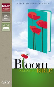NKJV Bloom Collection Bible Compact Red Possies (Red Letter Edition)