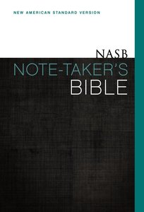 NASB Note-Takers Bible (Red Letter Edition)