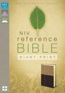 NIV Giant Print Reference Bible Latte Mocha Duo-Tone