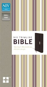 NIV Trimline Snap Closure Bible Burgundy (Red Letter Edition)
