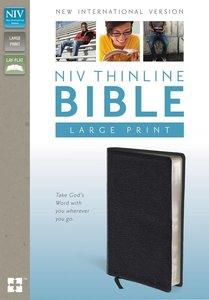 NIV Large Print Thinline Black Top Grain (Red Letter Edition)