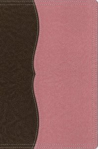 NIV Thinline Reference Large Print Chocolate Berry Creme Duo-Tone (Red Letter Edition)