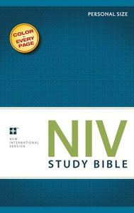 NIV Study Bible Personal (Red Letter Edition)
