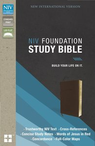 NIV Foundation Study Bible Earth Brown (Red Letter Edition)