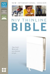 NIV Thinline Bible White (Red Letter Edition)