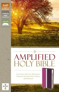 Amplified Holy Bible Dark Orchid/Deep Plum (Black Letter Edition)