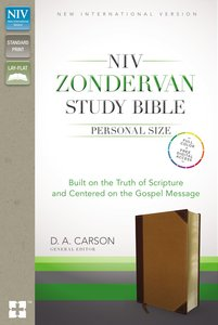 NIV Zondervan Study Personal Size Indexed Brown/Black