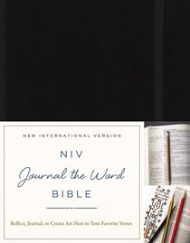NIV Journal the Word Bible Black (Black Letter Edition)