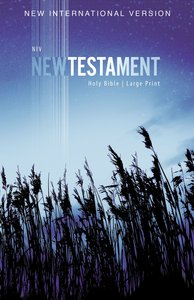 NIV Outreach New Testament Large Print Blue Wheat (Black Letter Edition)
