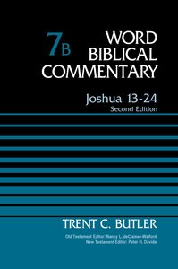 Joshua 13-24 (Second Edition) (Word Biblical Commentary Series)