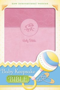 NIV Baby Keepsake Bible Pink (Red Letter Edition)