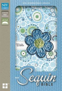 NIV Sequin Bible Blue Sparkle (Red Letter Edition)
