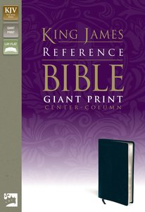 KJV Reference Bible Giant Print Navy (Red Letter Edition)