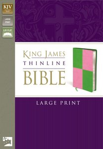 KJV Thinline Large Print Italian Meadow Green/Pink Duo-Tone (Red Letter Edition)