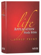 NIV Life Application Study Bible Large Print (Red Letter Edition)