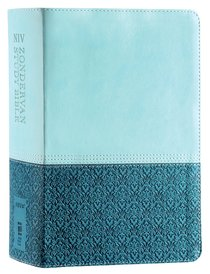 NIV Zondervan Study Bible Full Colour Personal Sea Glass Caribbean Blue