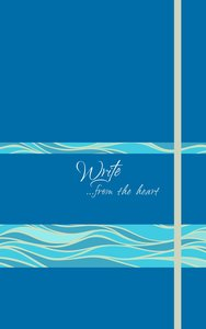 Write Journal: From the Heart, Ocean Waves (Caribbean Blue)