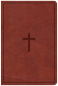 CSB Compact Ultrathin Reference Bible Brown Leathertouch (Red Letter Edition)