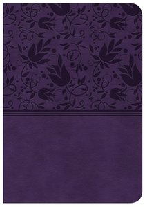 CSB Large Print Compact Reference Bible Purple Indexed Red Letter Edition