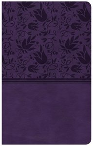 CSB Ultrathin Reference Bible Purple Indexed Red Letter Edition