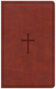 CSB Ultrathin Reference Bible Brown Indexed Red Letter Edition