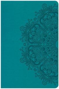 CSB Large Print Personal Size Reference Bible Teal Red Letter Edition