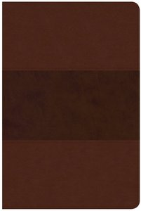 CSB Large Print Personal Size Reference Bible Indexed Saddle Brown