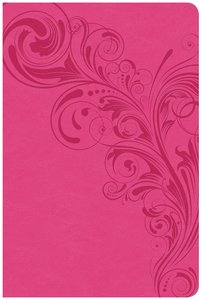 CSB Large Print Personal Size Reference Bible Pink Red Letter Edition