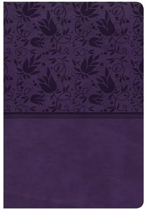 CSB Giant Print Reference Bible Purple Indexed (Red Letter Edition)