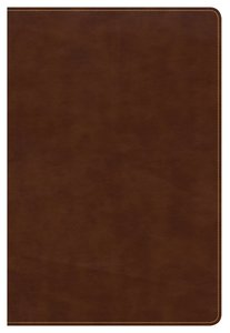CSB Large Print Ultrathin Reference Bible British Tan Indexed (Black Letter Edition)