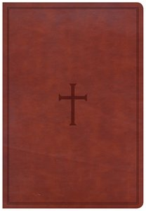 CSB Super Giant Print Reference Bible Brown