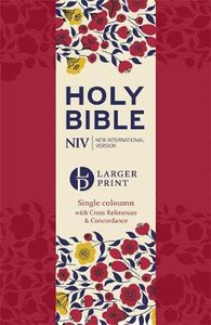 NIV Larger Print Compact Reference Bible Cherry Red