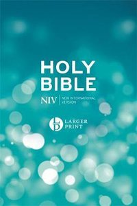 NIV Larger Print Blue Bible