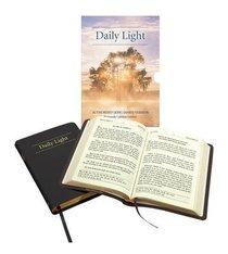 Daily Light KJV Large Print Daily Devotional Scripture Readings Black