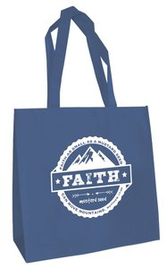 Tote Bag: Faith....Mustard Seed (Blue)