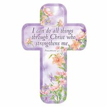 Bookmark Cross-Shaped: I Can Do All Things Through Christ Who Strengthens Me