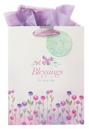 Gift Bag Large Sing For Joy: Blessings (Pale Green/floral)