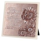 Plaque Moments of Faith Sculpture: Butterfly, Small Square Cast Stone, Mdf Base (2 Cor 5:17)