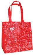 Christmas Eco Tote Bag Glitter: Joy to the World
