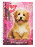 Spiral Hardcover Journal: Dog, So Now Faith Hope and Love