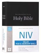 NIV Value Pew and Worship Bible Black (Black Letter Edition)