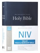 NIV Value Pew and Worship Bible Blue (Black Letter Edition)