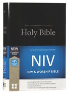 NIV Pew and Worship Bible Black (Black Letter Edition)
