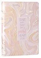2018 12-Month Daily Planner: Start Each Day With a Grateful Heart Luxleather/Gilt Edge (Marble Design)