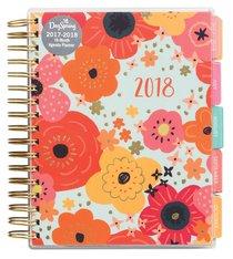 2018 Planner: Bold Floral Agenda Planner 18-Month Planner (Gold Foil)