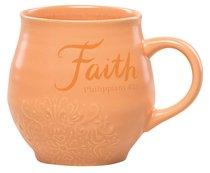 Ceramic Stoneware Mug: Faith Orange (Phil 4:13)